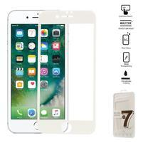 GT celoplošné fixační tvrdené sklo na iPhone 7 a iPhone 8 - biele