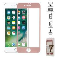 GT celoplošné fixační tvrdené sklo na iPhone 7 - ružovozlaté