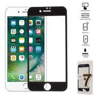 GT celoplošné fixační tvrdené sklo na iPhone 7 a iPhone 8 - čierne