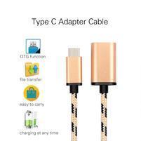 GX7 redukčný tkaný kábel USB Type-C na USB 3.0 - zlatý