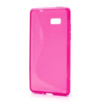 Gélové S-line puzdro pre HTC Desire 600- ružové