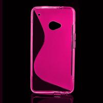 Gélové S-line puzdro pre HTC one M7- ružové