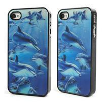 3D puzdro pre iPhone 4 4S - delfín