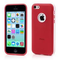 Gélové rámové puzdro pre iPhone 5C- červené