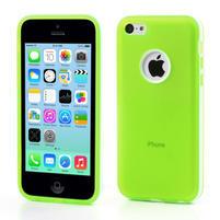 Gélové rámové puzdro pre iPhone 5C- zelené