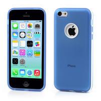 Gélové rámové puzdro pre iPhone 5C- modré