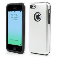 Gélové metalické puzdro pre iPhone 5C- biele