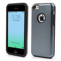 Gélové metalické puzdro pre iPhone 5C- šedé