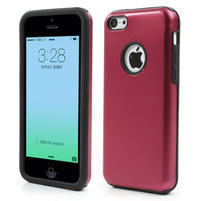 Gélové metalické puzdro pre iPhone 5C- červené