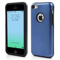 Gélové metalické puzdro pre iPhone 5C- modré