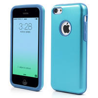 Gélové metalické puzdro pre iPhone 5C- svetlo modré
