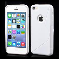 Gélové S-line puzdro pre iPhone 5C- biele