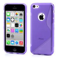 Gélové S-line puzdro pre iPhone 5C- fialové