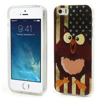 Gélové puzdro na iPhone 5, 5s- kuřecí americká vlajka