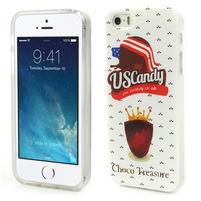 Gélové puzdro pre iPhone 5, 5s- US Candy