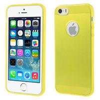 Gel-ultra slim puzdro pre iPhone 5, 5s- žlté