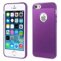 Gel-ultra slim puzdro pre iPhone 5, 5s-fialové