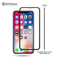 AMS celoplošné tvrdené sklo so silikónovým okrajom na mobil Apple iPhone 11 6.1 (2019) - čierne