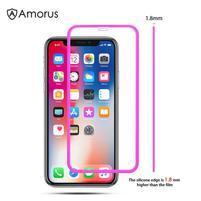 AMS celoplošné tvrdené sklo so silikónovým okrajom na mobil Apple iPhone 11 6.1 (2019) - rose