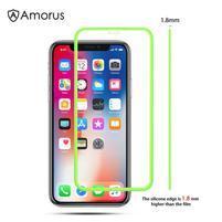 AMS celoplošné tvrdené sklo so silikónovým okrajom na mobil Apple iPhone 11 6.1 (2019) - zelené