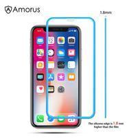 AMS celoplošné tvrdené sklo so silikónovým okrajom na mobil Apple iPhone 11 6.1 (2019) - modré