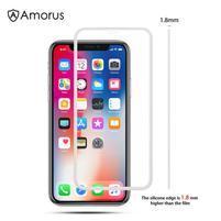 AMS celoplošné tvrdené sklo so silikónovým okrajom na mobil Apple iPhone 11 6.1 (2019) - biele