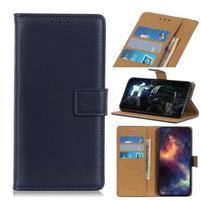 Stand PU kožené peněženkové puzdro na mobil Apple iPhone 11 6.1 (2019) - modré