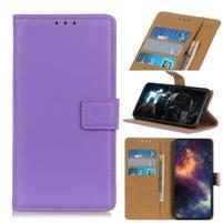 Stand PU kožené peněženkové puzdro na mobil Apple iPhone 11 6.1 (2019) - fialové
