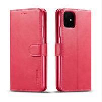 Imeek PU kožené peněženkové puzdro na mobil Apple iPhone 11 6.1 (2019) - červené