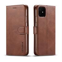 Imeek PU kožené peněženkové puzdro na mobil Apple iPhone 11 6.1 (2019) - kávové