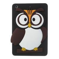 Silikonové puzdro na iPad mini 2 - hnědá sova