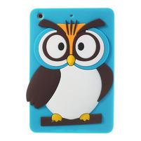 Silikonové puzdro na iPad mini 2 - modrá sova
