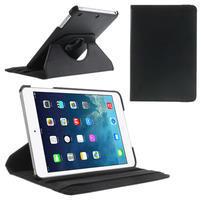 PU kožené 360° puzdro pre iPad mini-čierné
