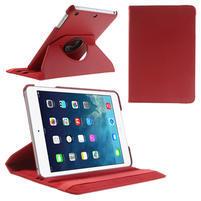 PU kožené 360° puzdro pre iPad mini- červené