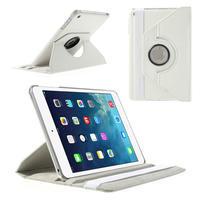 PU kožené 360° puzdro pre iPad mini- biele
