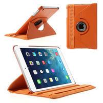 PU kožené 360° puzdro pre iPad mini- oranžové