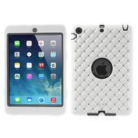 Hybridní kamínkové puzdro pre iPad mini- biele