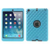 Hybridní kamínkové puzdro pre iPad mini- svetlo modré