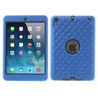 Hybridní kamínkové puzdro pre iPad mini- modré
