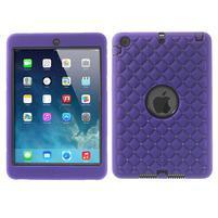 Hybridní kamínkové puzdro pre iPad mini- fialové