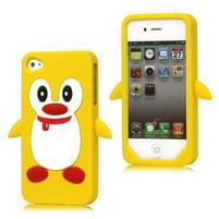 silikónový Tučniak na iPhone 4 4S - žltý