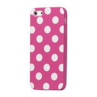 Gélové PUNTÍK puzdro pre iPhone 5, 5s- růžový