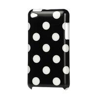 Plastové puzdro pre iPod Touch 4 - čierné bodkované