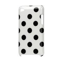 Plastové puzdro pre iPod Touch 4 - biele bodkované