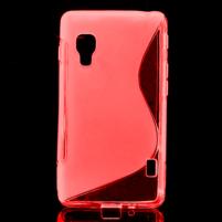 Gélové S-line  puzdro pre LG Optimus L5 II E460- červené
