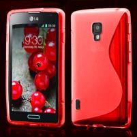 Gélové S-line puzdro pre LG Optimus L7 II P710- červené