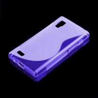 Gélové S-line puzdro pre LG Optimus L9 P760- fialové