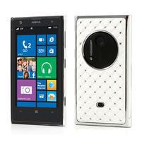 Drahokamové puzdro pre Nokia Lumia 1020- biele