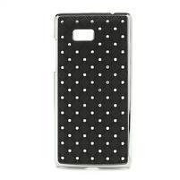 Drahokamové puzdro pre HTC Desire 600- čierné