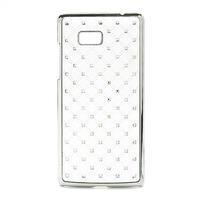 Drahokamové puzdro pre HTC Desire 600- biele